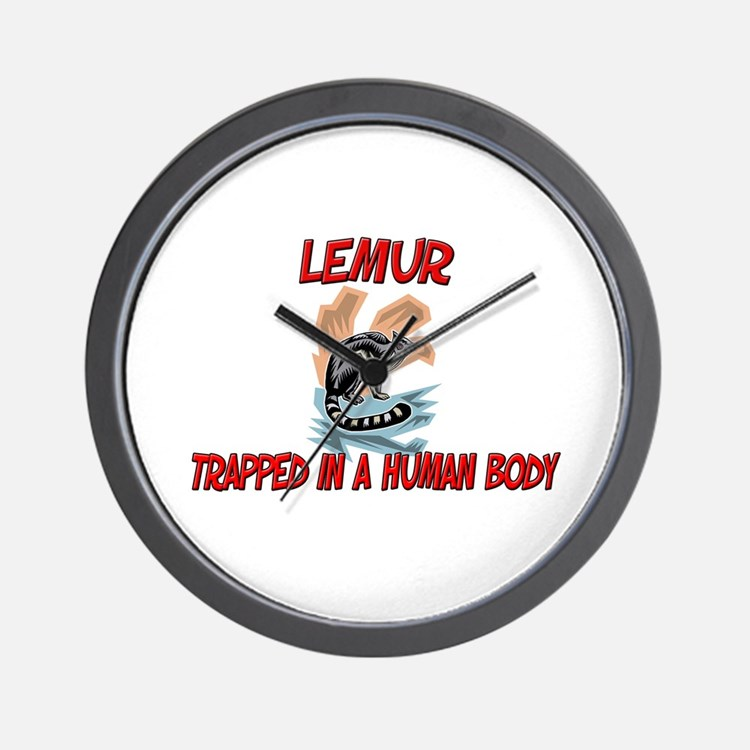 Lemur trapped in a human body Wall Clock