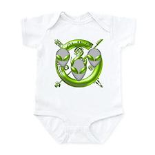 Tri-Alien Design Lime Infant Bodysuit