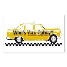 Who's Your cabby? Rectangle Sticker 10 pk)