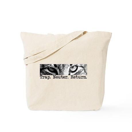 Trap. Neuter. Return. Cat Eye Tote Bag