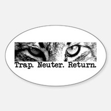 Trap. Neuter. Return. Cat Eye Oval Decal