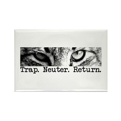Trap. Neuter. Return. Cat Eye Rectangle Magnet (10