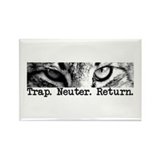 Trap. Neuter. Return. Cat Eye Rectangle Magnet