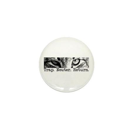 Trap. Neuter. Return. Cat Eye Mini Button (10 pack