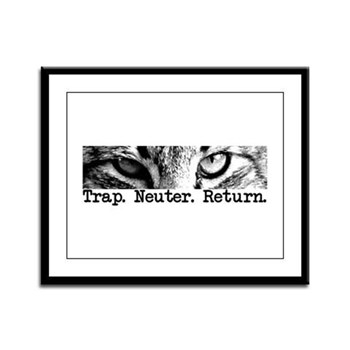 Trap. Neuter. Return. Cat Eye Framed Panel Print
