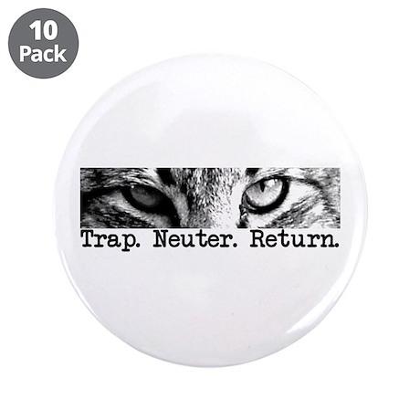 """Trap. Neuter. Return. Cat Eye 3.5"""" Button (10"""