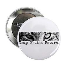 """Trap. Neuter. Return. Cat Eye 2.25"""" Button (1"""