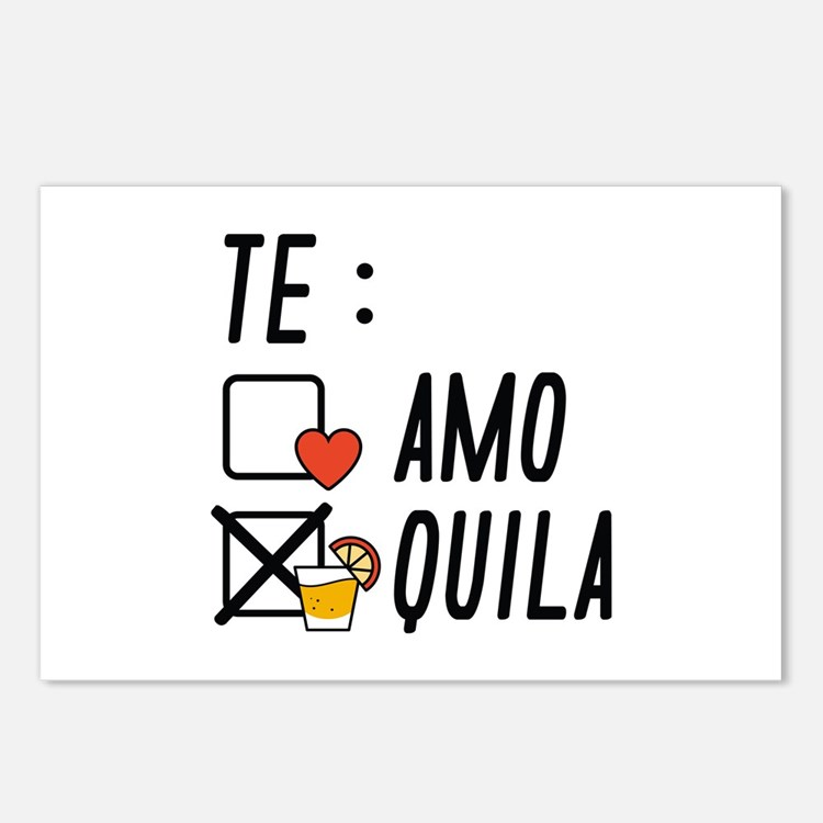 Te AmoTe Quila Postcards (Package of 8)
