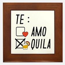 Te AmoTe Quila Framed Tile