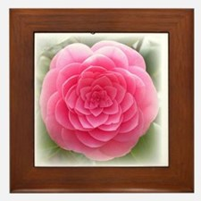 Camellia Centered Framed Tile