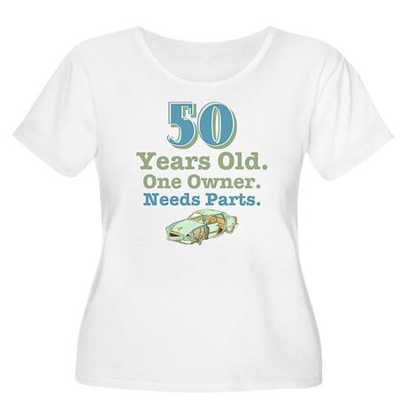 Needs Parts 50 Women's Plus Size Scoop Neck T-Shir