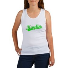 Retro Kaylin (Green) Women's Tank Top