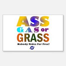 Ass, Gas or Grass Rectangle Decal