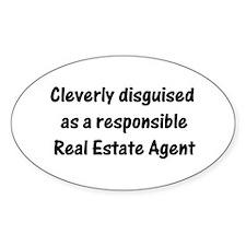 Real Estate Agent Oval Sticker (50 pk)