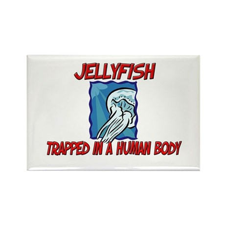 Jellyfish trapped in a human body Rectangle Magnet