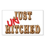 Just UnHitched! Rectangle Sticker
