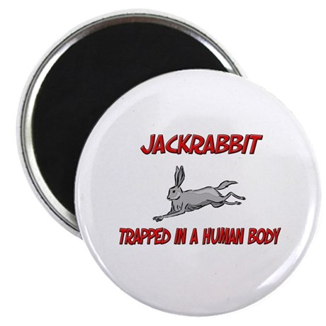 "Jackrabbit trapped in a human body 2.25"" Magnet (1"