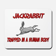 Jackrabbit trapped in a human body Mousepad