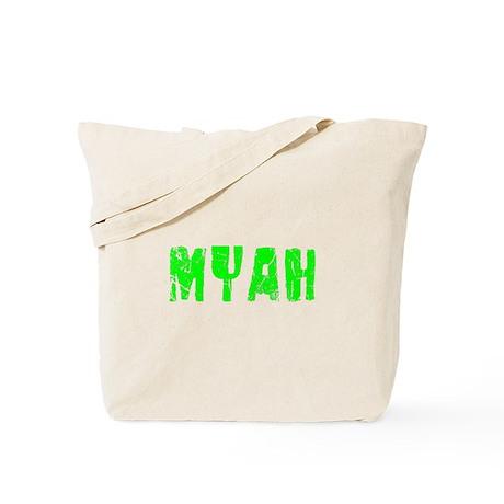 Myah Faded (Green) Tote Bag