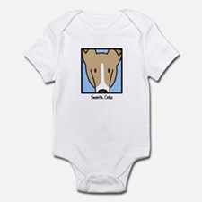Anime Sable Smooth Collie Baby Bodysuit