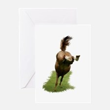 Bucking Horse Greeting Card