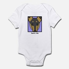 Anime Tri Smooth Collie Baby Bodysuit