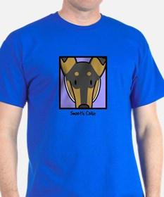 Anime Tri Smooth Collie T-Shirt
