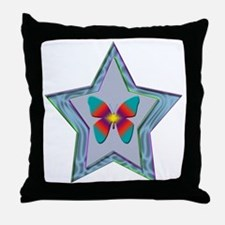 Butterfly Star Throw Pillow