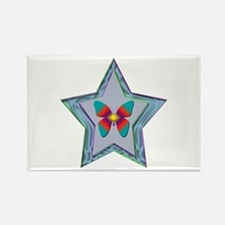 Butterfly Star Rectangle Magnet