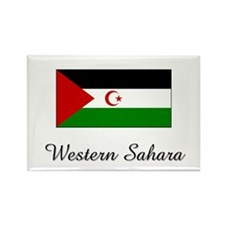 Western Sahara Flag Rectangle Magnet
