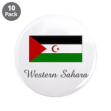 "Western Sahara Flag 3.5"" Button (10 pack)"