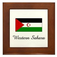 Western Sahara Flag Framed Tile