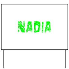 Nadia Faded (Green) Yard Sign