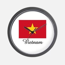 Vietnam Flag Wall Clock