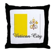 Vatican City Flag Throw Pillow