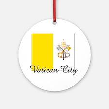 Vatican City Flag Ornament (Round)