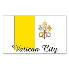 Vatican City Flag Rectangle Decal