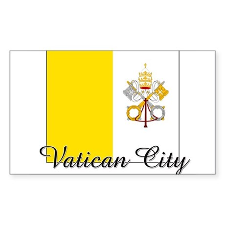 Vatican City Flag Rectangle Sticker