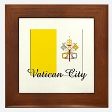 Vatican City Flag Framed Tile