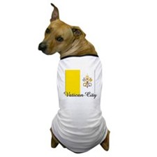 Vatican City Flag Dog T-Shirt