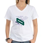 Half Truth Women's V-Neck T-Shirt
