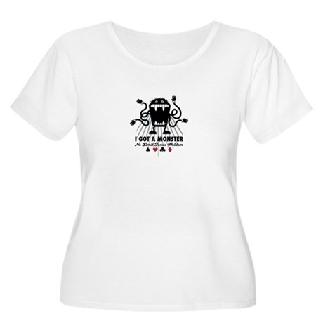 """Monster"" Women's Plus Size Scoop Neck T-Shirt"