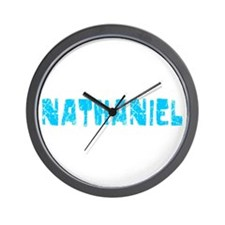 Nathaniel Faded (Blue) Wall Clock