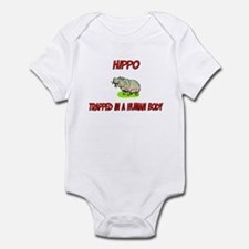 Hippo trapped in a human body Infant Bodysuit