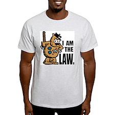 """I Am The Law"" Ash Grey T-Shirt"