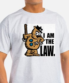 """I Am The Law"" Ash Grey T-Shirt"