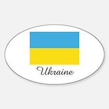 Ukraine Flag Oval Decal