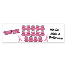 Pink Frogs 1 Bumper Bumper Sticker