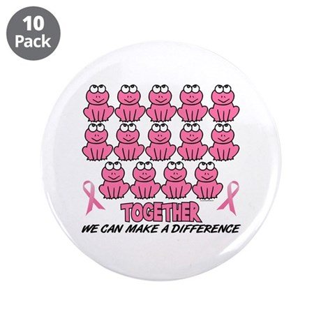 """Pink Frogs 1 3.5"""" Button (10 pack)"""