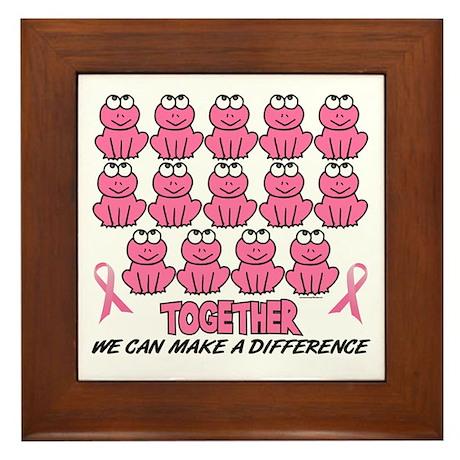 Pink Frogs 1 Framed Tile
